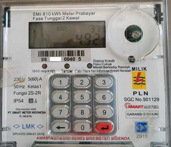 Indonesian electrical meter