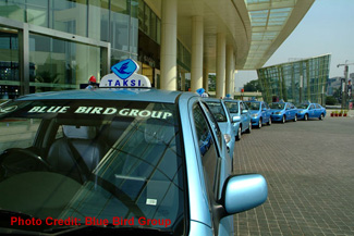 Blue Bird Taxi Queue