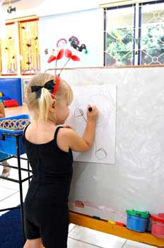 Drawing in a preschool - builds fine motor skills