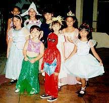 Children at a Halloween Party