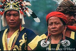 Indigenous people from Kalimantan