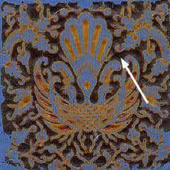Step 3 in the batik making process