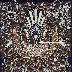Step 6 in the batik making process