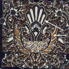 Step 7 in the batik making process