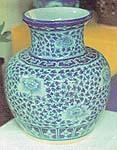 Blue Ceramic Vase