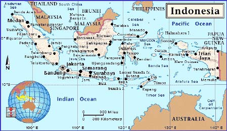 Map of the Republic of Indonesia