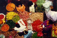 Sellers in an Indonesian traditional market