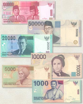 Indonesian currency - banknotes