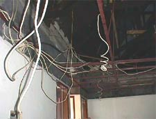 Unsafe wiring is a hazard in older houses