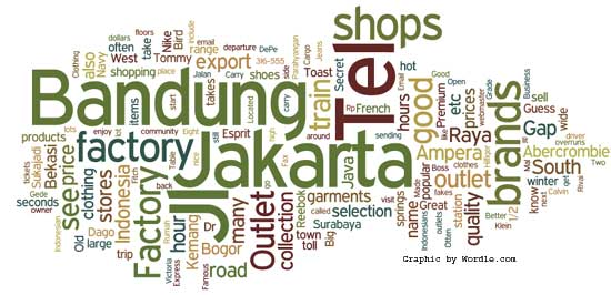 factory outlets in Indonesia
