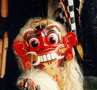 Traditional indonesian dance mask