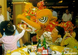 Children look forward to and enjoy the lion dances