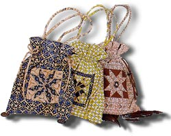 Beauitful bags made from batik