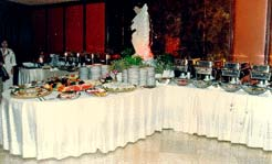 Indonesian wedding buffet